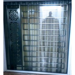Glass Stainless Steel Grill Window