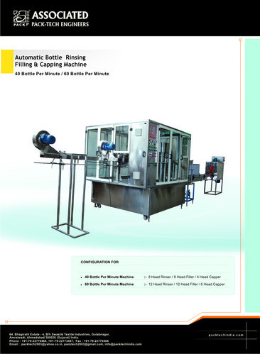 30 BPM Mineral Water Bottle Filling Machine
