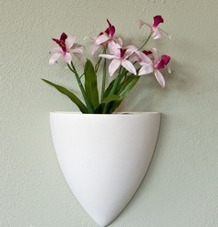 Cone GRP Large Wall Planter, Size: 12X10X6