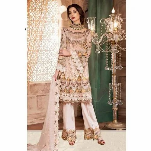 487bda4433 Trousers Wedding Wear Pakistani Chiffon Suits, Rs 2000 /piece | ID ...