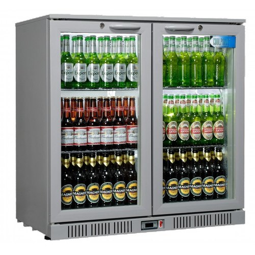 SS,Glass Double Door 2 Door Commercial Bottle Refrigerator