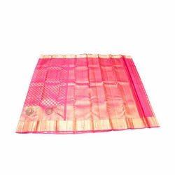 Pure Silk Party Wear Kanchipuram Net Pattu Saree