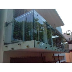 Plain Glass Mastercraft Balcony Handrail, Thickness: 3-6 mm