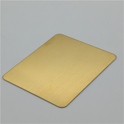 Mirror Hairline Etched Stainless Steel Sheets