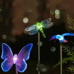 Solar Powered Light with RGB LED Light