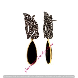 Black Onyx Elegant Ladies Earrings