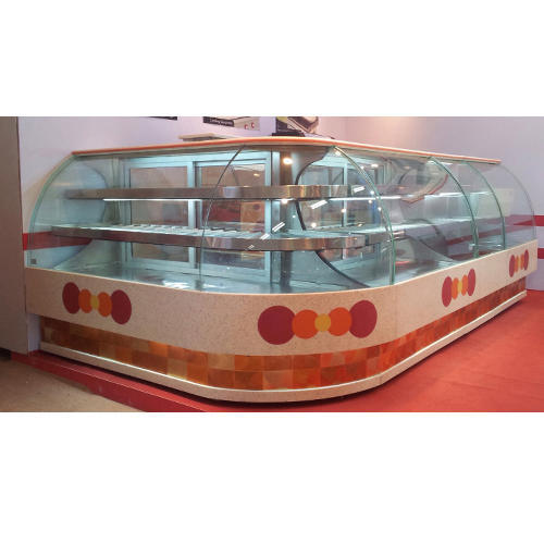 L Shaped Bend Glass Counter