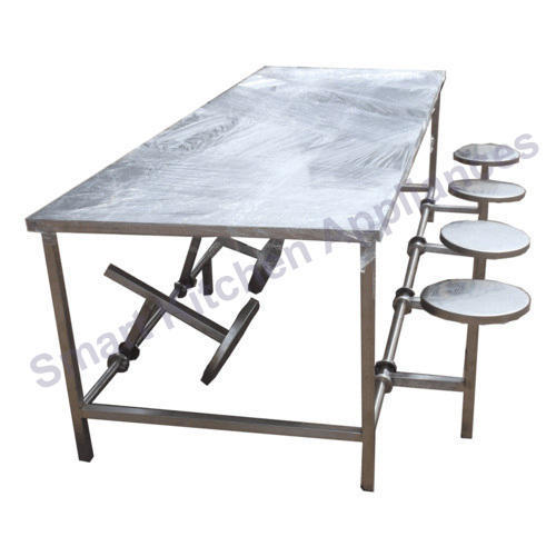 Silver Kitchen Folding Dining Table