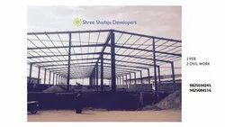 Fabricated steel shed