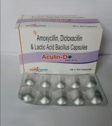 Aculin-625 Plus  Amoxycillin-250mg ,Dicloxacillin-250mg & Lacto Bacillus2.5 Billion