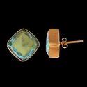 Women Fashion Studs Designs Gemstone Earrings