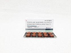 ISO Allopathic Bromhexine Hydrochloride Tablets, Packaging Size: 10x10