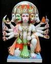 White Marble Panchmukhi Hanuman Statue