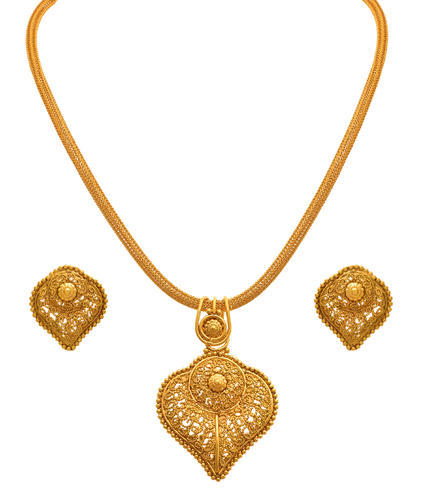f3e7c2da01e499 JFL - Traditional Ethnic Gold Plated Designer Pendant Set ...