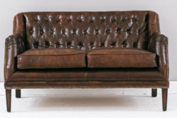 Vintage Leather Wo Seater Sofa