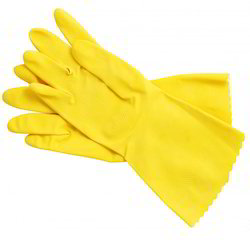 Cleaning Rubber Hand Gloves