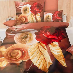 3D Flower Print Bed Sheet