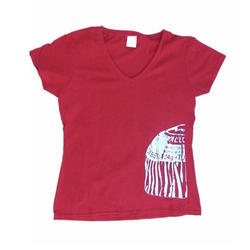 Red Ladies Casual T-Shirt
