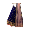 Heavy Embroidered Tafeta Silk Lehnga Saree