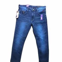 Knitted Denim Comfort Fit Mens Crushed Denim Jeans, Waist Size: 28-44 Inch