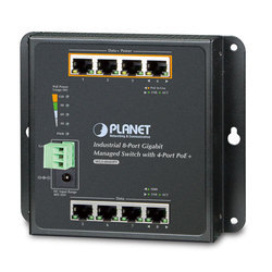 DIN-Rail L2 L4 Managed Gigabit PoE Switch WGS-804HPT