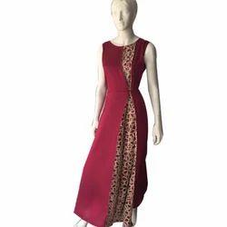 Ladies Sleeveless One Piece Dress, Size: M & L