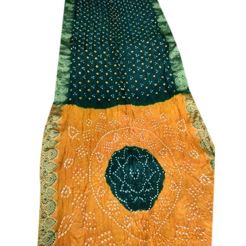 Party wear Embroidered 3-Dana Hast Kala Silk Bandhej Ladies Saree, 6.3 m (with blouse piece)