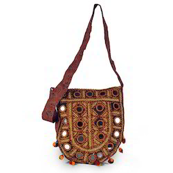Kutch Art Mirror Work Shoulder Bag
