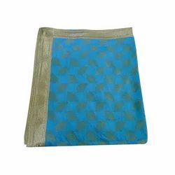 Nlue Printed Rumala Sahib Silk Fabric