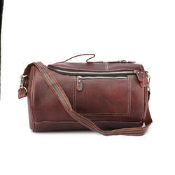 Genuine Leather Unisex Travel Duffel Bag