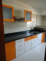 Straight Wooden Modular Kitchen