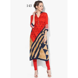 Band Neck Casual Wear Kurti