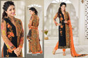 Cotton Orange Designer Suit