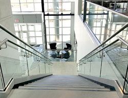 Commercial Glass Stair Railing