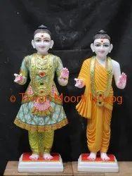 White Marble Swami Narayan Statue