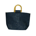 D cane Handle Jute Bag