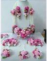 Ladies Artificial Flower Necklace Set