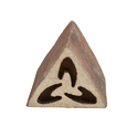 Triangular Shape Wooden Henna Printing Blocks