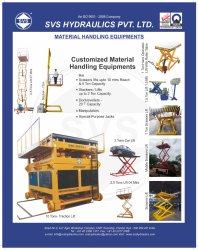 Customized Material Handling Equipment's