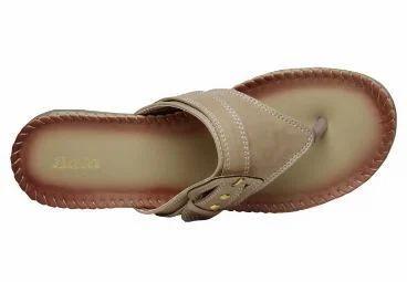 Formal Leather Bata Women Beige Chappals F671807500 46ab98941