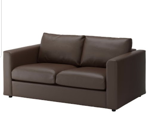 Two Seater Brown Pu Leather Sofa At Rs