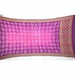 Pink and Magenta Color Banarasi Georgette Bandhani Dupatta