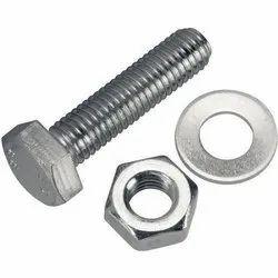 Black Hexagonal Steel Bolt, Size: 3/6'' X 2'', for Industrial