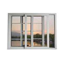 Glemtech UPVC 3 Track Sliding Window, Thickness Of Glass: 5 - 15 Mm