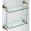 Bathroom Glass Front Shelves