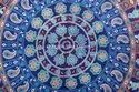 Indian Round Mandala Floor Cushion Cover Hand Screen Printed Tapestry Cushion Cover