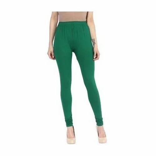 9e2fbb9463 Ladies Green Plain Cotton Lycra Legging, Size: Free Size, Rs 110 ...