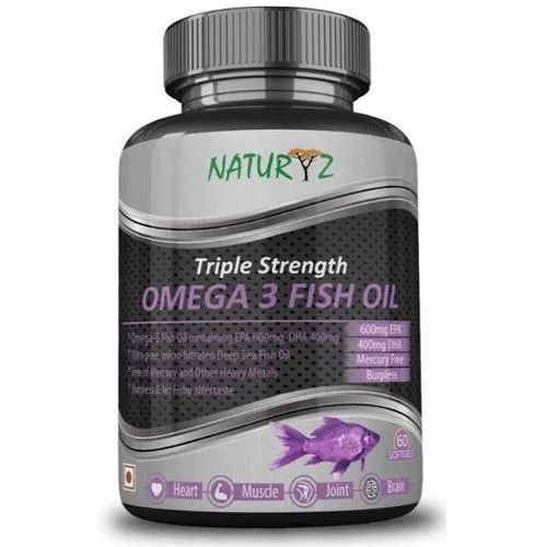 Naturyz Omega 3 Fish Oil Softgel, Packaging Type: Plastic Container, Rs 800 /Bottle   Id: 21018207255