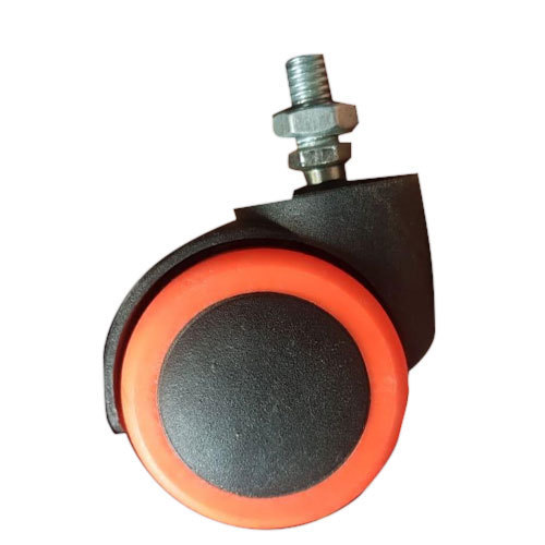 Black and  Orange Caster Wheel