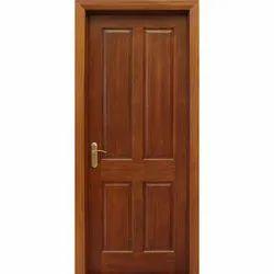 Exterior, Interior Hinged Teak Veneer Door